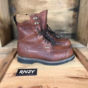 LL Bean Leather Hunting GoreTex Lined Boot